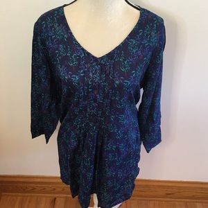 NWT Chelsea Studio blue patterned blouse 18/20
